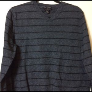 Men's Banana Republic V-Neck Striped Sweater XL